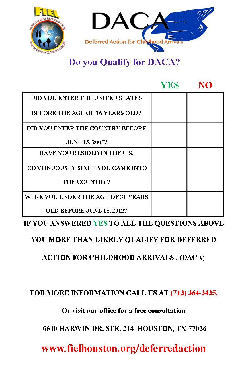 daca checklist english